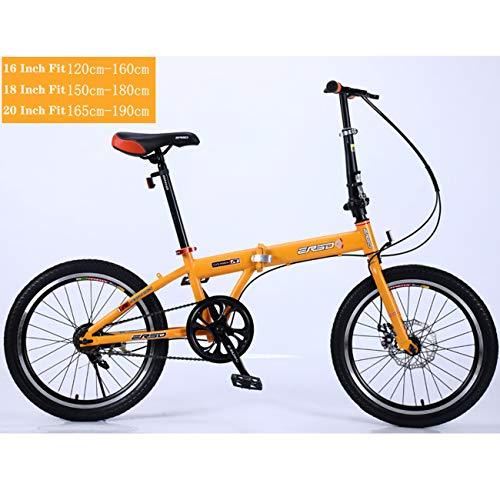 QXue Carbon Fibre City Mountain Bike Single Speed Spoke Wheel Complete MTB Bicycle,Yellow,18 inches