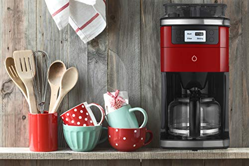 Smarter Smart iCoffee Brew Coffee Maker in Red with Built-in Grinder and Smarter App for Customized Coffee On Demand, SMARTERCOFFEE, small