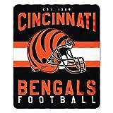 Northwest NFL Cincinnati Bengals Printed Fleece Throw, One Size, Multicolor