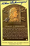 Charlie Gehringer Signed Gold HOF Plaque Postcard Yellow Autograph Tigers - JSA Certified - MLB Cut Signatures