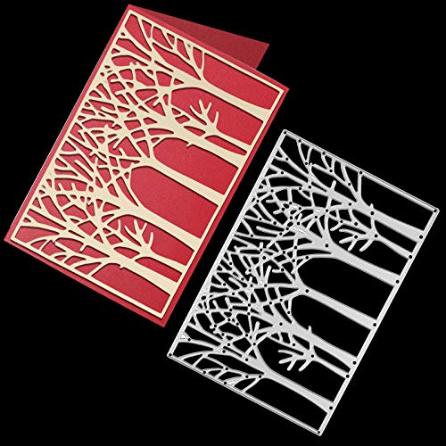 OOTSR Tree Metal Cutting Die Cuts, Cutting Dies for Card Making, Paper Cut Dies for DIY Scrapbooking Paper Stencil Embossing Card Template