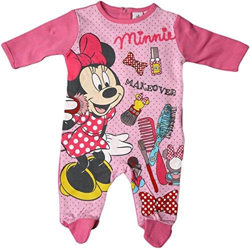 Disney Minnie Mouse Pyjama/Schlafanzug/Strampler - Minnies Makeover - Rosa/Pink/Mehrfarbig/Gepunktet