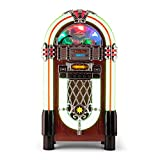AUNA Graceland XXL Jukebox Vintage - Bluetooth , Reproductor CD , Puerto USB , Tarjetas...