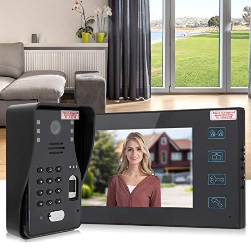 Timbre con video, kit de teléfono en la puerta, teléfono en la puerta con visión nocturna, multifuncional de alta calidad para hoteles, hogar más seguro, 7 pulgadas(Blue)