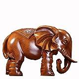 HongLianRiven maniquíes Suerte Elefante Adornos, Duradero Resina, Utilizada en Auspicioso Craft Adornos en la Entrada de Feng Shui de la Sala (31 * 18 * 21) (Color : Brass, Size : 31cm*18cm*21cm)