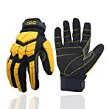 Anti Vibration Work Gloves, SBR Fingers & Palm Padded Work Gloves, Men Safety