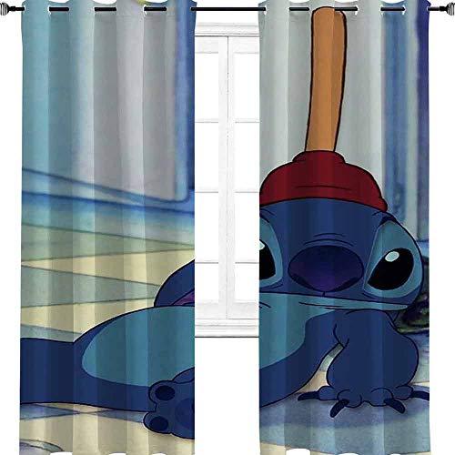 Aotuma Stitch sit in a TV serie animazione comic movie Room Darkening isolamento termico oscurante tenda per finestra soggiorno 182,9 cm W x 243,8 cm L