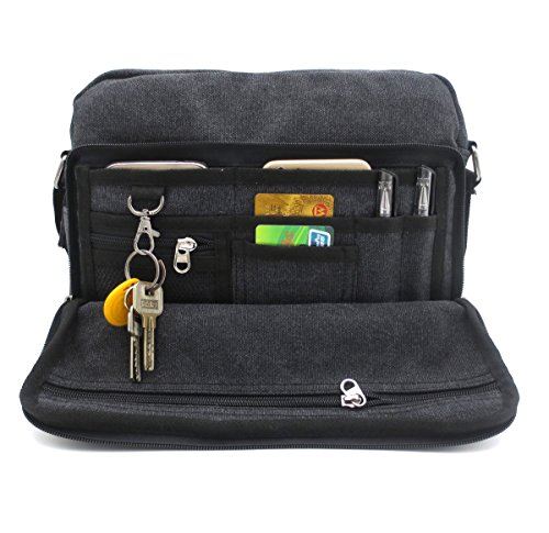 Bolsa de mensajero de lona para hombres y mujeres, multifuncional, bolsa de viaje, bolsa de trabajo de negocios