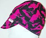 Comeaux Caps Welders Welding Hat Pink Silhoutte Size 8