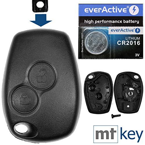 test Autoschlüssel-Funksteuerung 1x Gehäuse 2 Tasten + 2 Batterieklemmen + 1x CR2016 Batterie… Deutschland