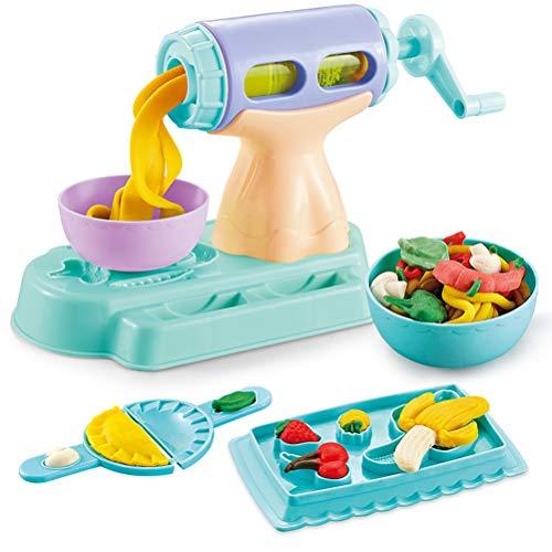 Suszian Kids DIY Playdough Clay Dough Plasticine Noodle Machine Mold Play Kit Handmade Toy Noodle Maker Kitchen Toy for Children Gift,Intelligence Development