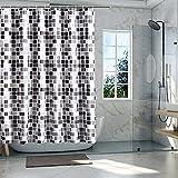 YushengTai Cortina de ducha, cortina de baño impermeable...