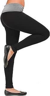 Women's Bootleg Yoga Pants with Foldover Waist - Active Workout Flare Leggings