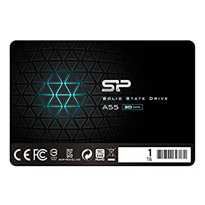 """Silicon Power 1TB SSD 3D NAND A55 SLC Cache Performance Boost SATA III 2.5"""" 7mm (0.28"""") Internal Solid State Drive (SP001TBSS3A55S25) from Silicon Power"""