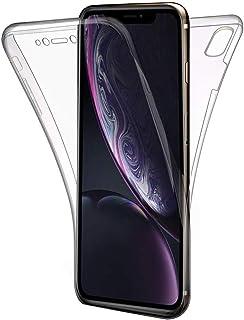 COPHONE Funda iPhone XR, Transparente Silicona 360°Full Body Fundas para iPhone XR (6,1 Pulgadas) Carcasa Silicona Funda Case.
