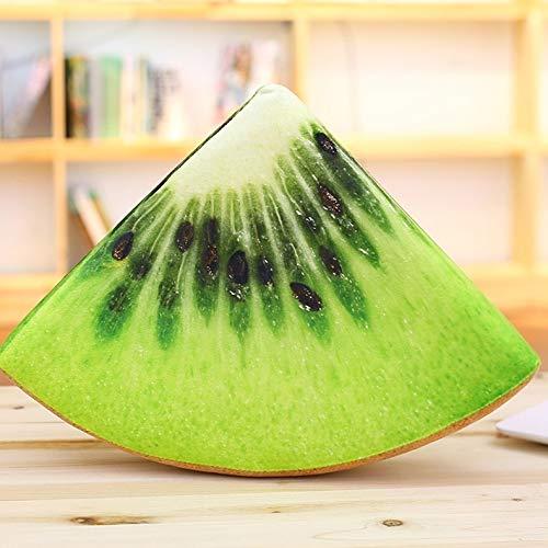 N / A Obst Kissen Kissen Sofa Auto Kissen Plüsch Baby Spielzeug Wassermelone Kiwi Zitrone Orange Kissen Kissen Geburtstagsgeschenk für Kinder Freund 30X30X7CM