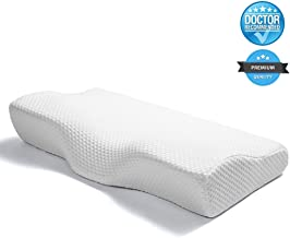 NOVIMED Medical Advanced Memory Foam Contour Cervical Pillow for Neck Pain, Snoring and Breathing Difficulty for Back and Side Sleepers - Doctor Recommended
