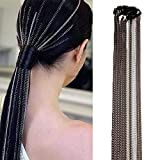Campsis Punk Hair Chains Silver Multi Strand Hair Extension Chain with...