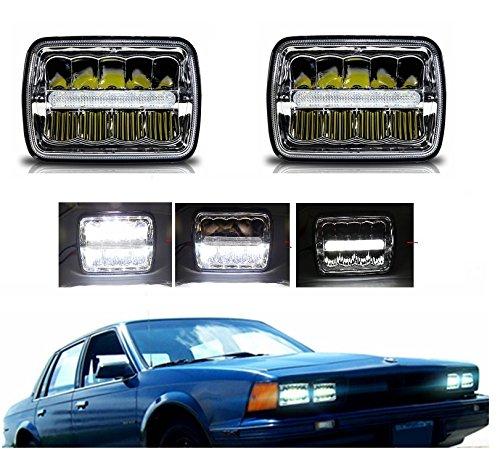 17,8x 15,2cm LED-Scheinwerfer rechteckig 12,7x 17,8cm versiegelt Beam quadratisch Scheinwerfer High/Low Beam mit Standlicht jede 200mm ersetzen H6054H6014H6052Stil Licht (2Pcs)