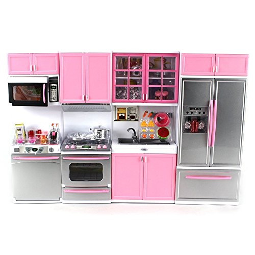 Product Image of the 'Deluxe Modern Kitchen' Battery Operated Toy Kitchen Playset, Perfect for Use...