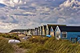 Andy Evans Photos Foto fotográfica de cabañas de playa de Hengistbury Head Bournemouth Christchurch Dorset Inglaterra paisaje foto a color (45,7 x 30,4 cm)