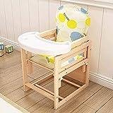 5 tipos de silla de bebe 2 en 1 paquete de alimentación del bebé sillas y mesa de comedor de madera sólidos sillas altas puede ser el diseño de cuerpo partido, con el crecimiento infantil,D