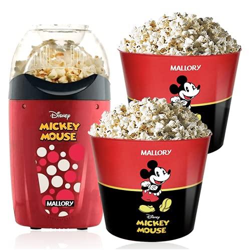Pipoqueira Elétrica Disney Mickey Mallory +2 Baldes Pipoca