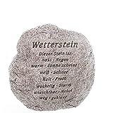 linoows Wetterstein, Lustiger Deko Stein mit Schriftzug, Gartenfigur, Gartendeko aus Polyresin.