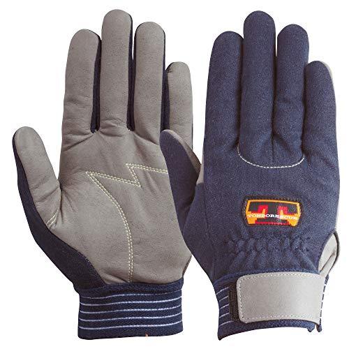 ユアサグローブ トンボレスキュー ケブラー繊維耐切創手袋 Mサイズ KE303NV-M 5双入 点検整備・一般作業・災害救助・防災対策・レジャー