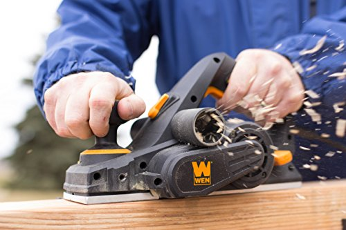 Handheld Planer in Use