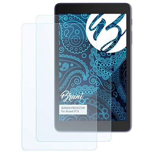 Bruni Schutzfolie kompatibel mit Alcatel 3T 8 Folie, glasklare Bildschirmschutzfolie (2X)
