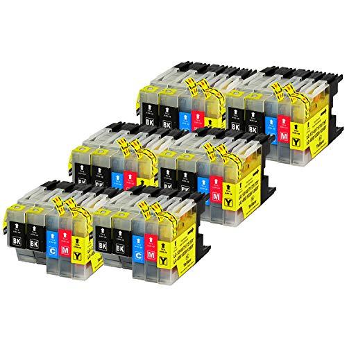 30 Bubprint Druckerpatronen kompatibel für Brother LC-1220 LC-1240 für DCP-J525W DCP-J725DW DCP-J925DW MFC-J430W MFC-J5910DW MFC-J625DW MFC-J6510DW MFC-J6710DW MFC-J6910DW MFC-J825DW Multipack