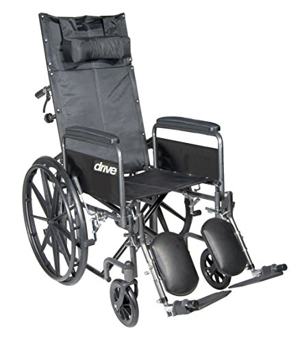 Drive Medical SSP20RBDFA Silver Sport Reclining Wheelchair with Elevating Leg Rests