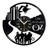 Leooolukkin Wizard of Oz Vinyl Clock, Wizard of Oz Wall Clock 12', Original Gifts for Fans Wizard of Oz, The Best Home Decorations