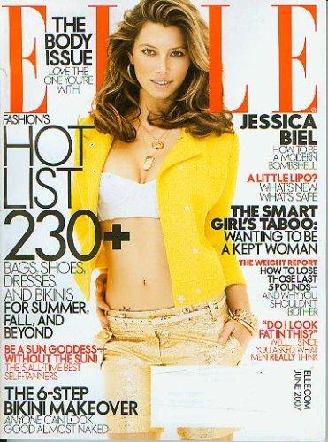 Elle Magazine June 2007 - Jessica Biel, The Body Issue (No. 262)