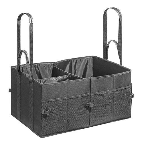 Wedo 582531 Kofferraumtasche Big Box Shopper (Größe XL (aus Polyester, 60 x 40 x 30 cm, Innen- und Außentaschen, Klettverschluss, Schnellverschluss, zusammenfaltbar, mind. 25 kg Traglast) schwarz