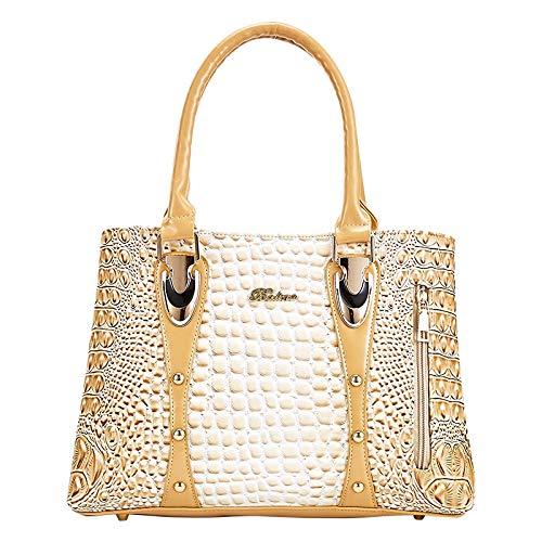 Générique Célèbre portemonnee, krokodil-merk, leer, met klinknagels, decoratie, voor vrouwen, luxe, alligator handtas, PU-leer, handgreep voor dames