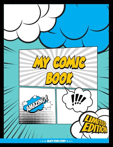My Comic Book: Blank Comic Book with large dimensions 8.5