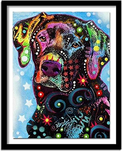 Stamped Cross Stitch Kits for Adults Beginner-Animal Labrador Dog,DIY Designs Cross-Stitch Easy Supplies Needlework,Needlepoint Embroidery Gift for Home Decor -16 20 inches