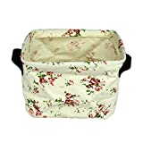 Cotton Beige Waterproof Flax Toy Clothing Cosmetics Organizer Storage Box by Gardeningwill