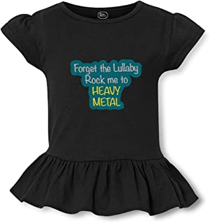 """Rock Me to Heavy Metal/"""" Boy Girl Baby Rock Music T-Shirt /""""Forget the Lullaby"""