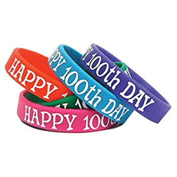 Teacher Created Resources Happy 100th Day Wristbands  6568