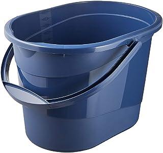 keeeper Seau de Nettoyage avec Anse Ergonomique, Poignée Encastrée et Bec Verseur, Ovale, 13 L, Thies Eco Line, Eco Bleu
