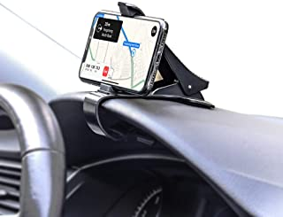 Car sprint phone clip, Non-Slip Dashboard Cell Phone Holder Mounted for GPS Navigation Compatible for iPhone Xs/XS Max XR X 6S 7/8 Plus, Galaxy Note 9/8 S8/S9/S10 Plus J7 J3, Pixel 3 XL and More