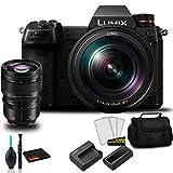 Panasonic Lumix DC-S1 Full-Frame Mirrorless Digital Camera with 24-105mm Lens-Bundle with Panasonic Lumix S PRO 50mm f/1.4 Lens + More