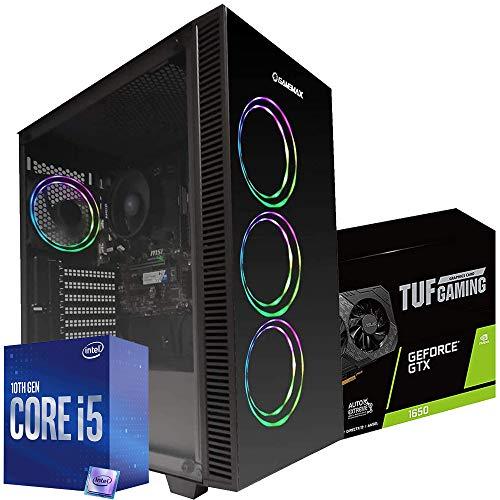 Pc gaming Intel i5 10400 4.3ghz / Asus Tuf Gaming Gtx 1650 4gb / Dissipatore a Liquido 120 RGB/Ram Ddr4 16gb/ Ssd M.2 500gb / Windows 10 Pro/Computer da gaming assemblato completo Desktop gaming