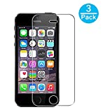 iPhone SE Screen Protector 3 Pack, WEOFUN Tempered glass for iPhone 5S SE