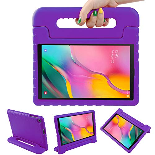 LEADSTAR Funda para Samsung Galaxy Tab A 10.1 2019, Ligero y Super Protective Antichoque EVA Estuche Protector Diseñar Especialmente Manija Caso con Soporte para los Niños, SM-T510 / T515 (Vio