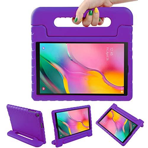 LEADSTAR Funda para Samsung Galaxy Tab A 10.1 2019, Ligero y Super Protective Antichoque EVA Estuche Protector Diseñar Especialmente Manija Caso con Soporte para los Niños, SM-T510 / T515 (Violeta)