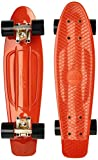 Ridge 22' Organics Range Skateboard, Verbrannt Orange/Schwarz,...